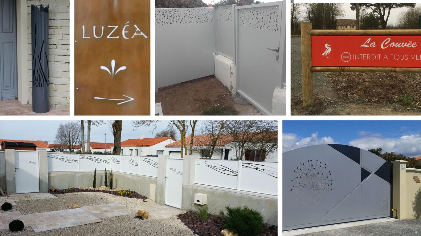 Sur-mesure : Mobilier d'intérieur & d'extérieur, portails rambardes, panneaux, garde-corps, poteaux par Hy-procom, près de La Roche sur Yon en Vendée